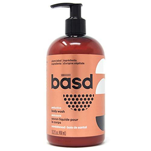 Basd Organic Moisturizing Body Wash, Seductive Sandalwood, Natural Skin Care, Vegan, Hypoallergenic, 15.2 Ounce Bottle
