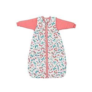Schlummersack Saco de dormir para bebé (para todo el año, forrado en 2,5 tog, con mangas extraíbles, 70 cm, 0-6 meses)
