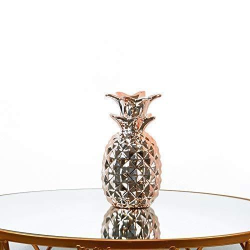 Homevibes Piña De Ceramica Decorativa Ideal para Tu Hogar Medidas 16 x 8 cm (Dorada)