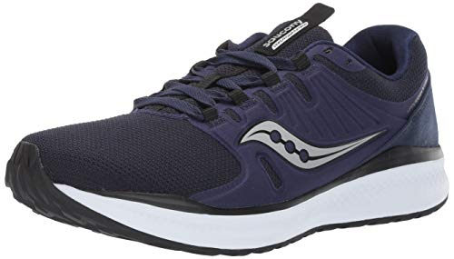 Saucony Men's Versafoam Inferno Running Shoe, Navy/Grey, 12.5