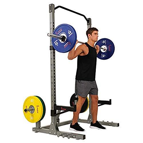 Sunny Health & Fitness Power and Squat Rack w/ Plate Storage, 360 Degree Swivel Landmine $250.70