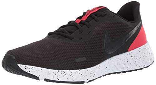 NIKE Revolution_5, Zapatillas Hombre, Black/Anthracite/University Red/White, 44 EU