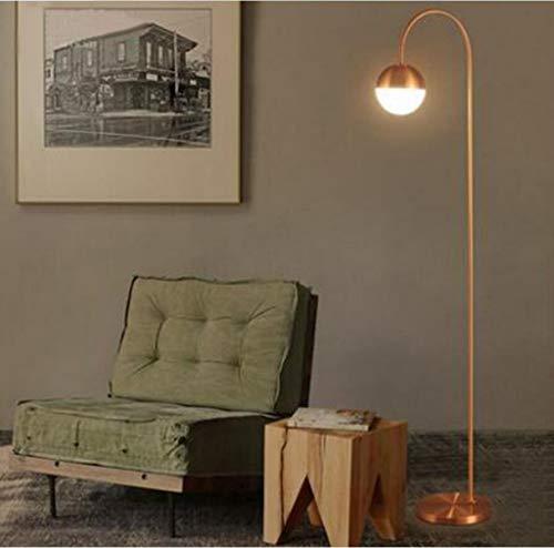HGDD MODERN Stehleuchte Basis for Stehlampe Klavierlampe Angellampe LED Raumbeleuchtung Lampe Schlafzimmer Studie Leben zum Lesen Günstige Kronleuchter (Color : Red Copper)