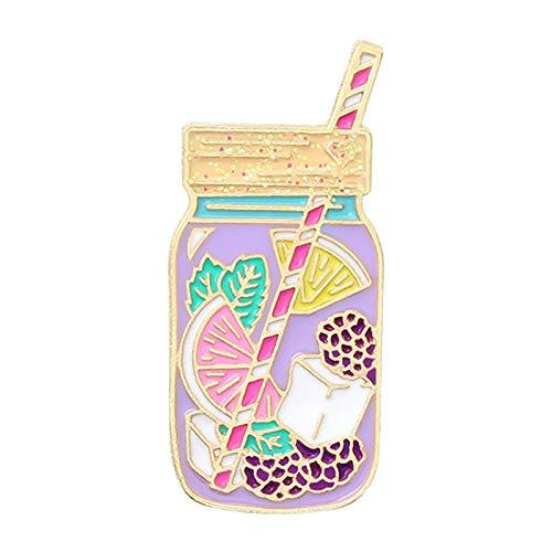Pines para mochilas, Dibujos Animados Esmalte Pin Botella Broche de Tinta de la Solapa Abrigo Tarro Insignia Accesorios de Ropa - 1
