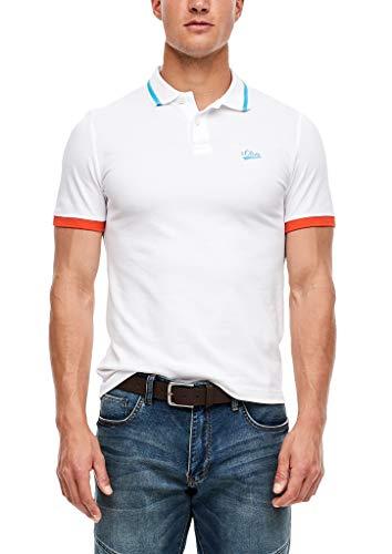 s.Oliver Herren Poloshirt aus Baumwollpiqué White XL