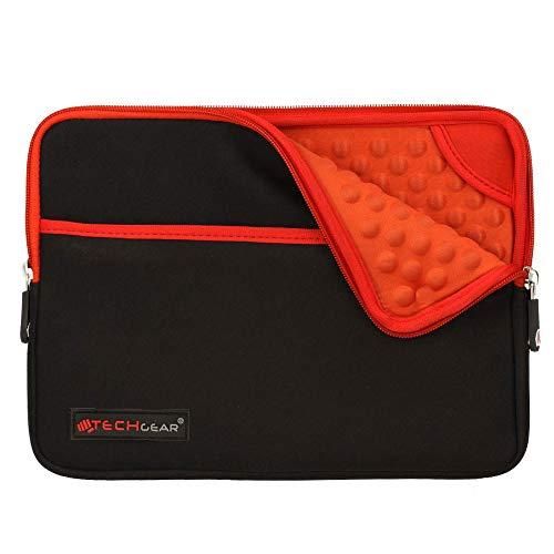 TECHGEAR Pro Sleeve [10] Schutzhülle aus Neopren mit Reißverschluss & Anti-Shock Bubble-Innenausstattung für iPad Mini 4, 3, 2, 1, Samsung Tab 8,0, Iconia 8,0, Asus MeMo Pad 8, ZenPad 8 -Rot