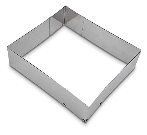 Städter Backrand, Edelstahl, Silber, 25-50 x 22-41 x 7 cm