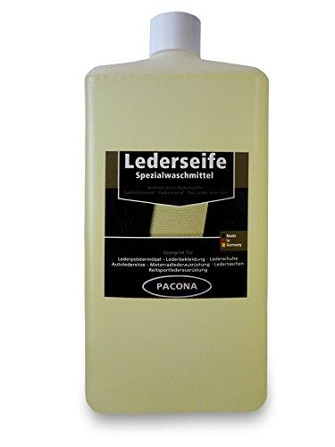 Pacona Pacona Lederseife/Lederwaschmittel/Ledershampoo/Lederreiniger (1 Liter) für Glattleder, Wildleder, Nubukleder, Veloursleder