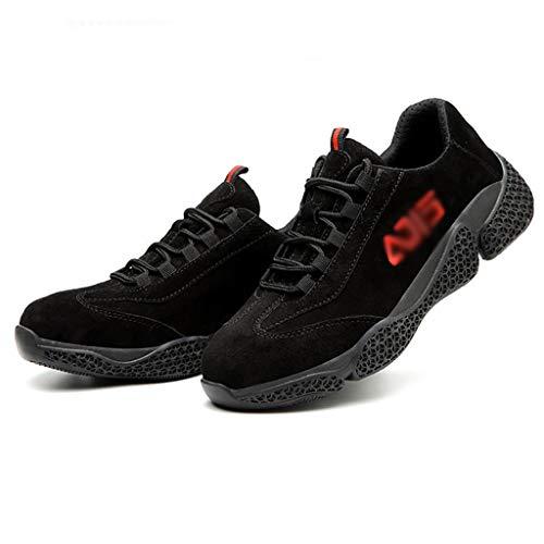 Calzado de protección Zapatos de trabajo zapatos de seguridad resistentes al desgaste zapatos protectores, zapatos de seguridad, zapatos de seguridad para mujeres, entrenadores de toe de acero para mu