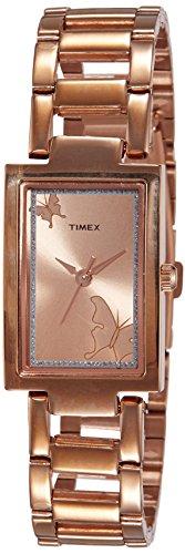 Timex - Reloj analógico para Mujer, Esfera marrón, Reloj TWEL11303