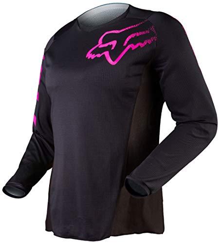 Fox Racing - Camiseta de motocross para mujer, color negro y rosa