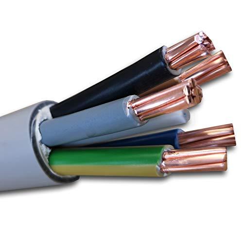 Meterware auf den Meter genau: NYM-J 5x16 mm² - NYM-J 5x16 mm2 - Mantelleitung - Installationsleitung - grau - Auswahl in 1 Meter Schritten - Beispiel: 2 m - 5 m - 10 m - 20 m - 25 m - 50 m usw.