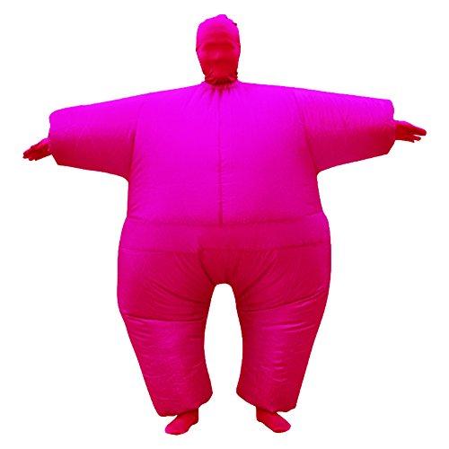 CosheartEU Para mayores de traje de Color Chub hinchable Blow Up de cuerpo entero para disfraz infantil de 5 colores incluye el mono