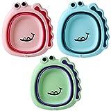 TOYANDONA 3Pcs Plegable Lavabo Bañera Plegable Dishpan Lavabo Plegable Lavabo para Niños Bebés