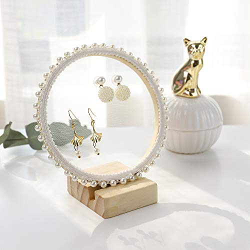 "GemeShou Jewelry Display Stand for Show Pegboard Earring Hanger Holder Stud Dangle Mesh Board Earring Display Holder【lace Earring Board Height 5.9""】"