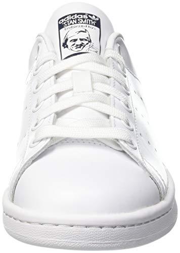 adidas Originals Stan Smith, Zapatillas Unisex Adulto, Blanco Corriendo Blanco Corriendo Blanco Nuevo Azul Marino, 44 EU