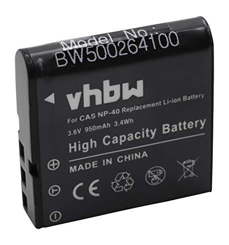 vhbw Li-Ion batería 950mAh (3.6V) Compatible con cámara Kodak PixPro AZ361 Astro Zoom, AZ361, AZ362 Astro Zoom, AZ362, AZ365, AZ251 y NP-40.
