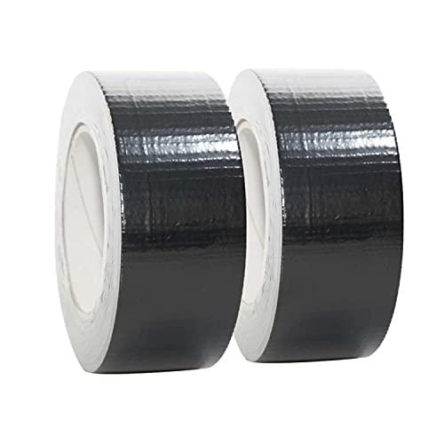 2 Rollen Gewebeband in schwarz | Panzertape | Panzerband | Gaffa Tape | Duct tape | 50mm x 50m, Farbe:schwarz