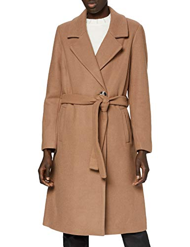 ONLY Carmakoma Damen CARTINA Wool WRAP Coat OTW Wollmantel, Camel, L-50/52