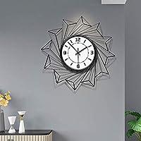 壁掛け時計-個別のアートポリゴンクリエイティブサイレントクォーツ時計、ガラス/金属素材、リビングルーム、ベッドルーム、オフィス廊下ホテルに適しています Nice family