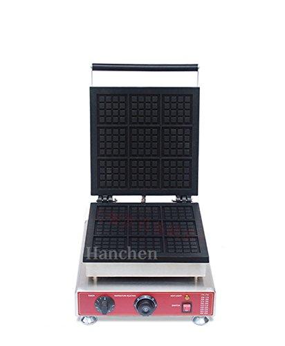 Hanchen NP-901 Commercial Non-Stick Electric 9 Grid Square Belgian Waffle Machine Maker Baker Making Machine (220V)