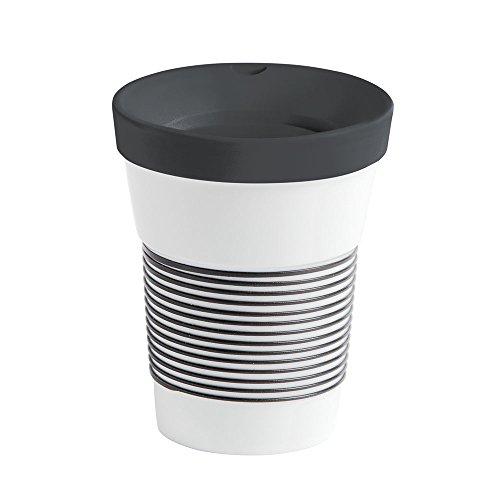 Kahla Coffee to Go Becher 0,35 l mit Deckel, Porzellan, Magie Grip anthrazit, 13 cm