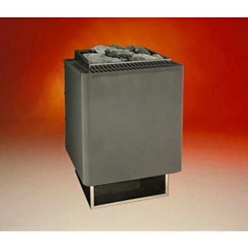Eos Saunaofen Thermat 9 kW Made in Germany mit Saunasteine, anthrazit-perleffekt (gleicher Ofen auch als Sparpaket, mit Steine und Top aussen Steuerung in Wellness4me Shop)