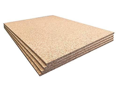 Korkplatten, nicht klebend, 610 x 450 mm, 10 mm dick, 4 Stück