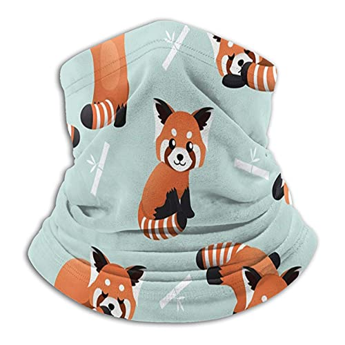 Cute Red Panda Bamboo Unisex Multifunctional Dustproof Face Masks Neck Gaiter Neck Warmer Scarf Balaclava for Outdoor Sports