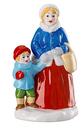 Hutschenreuther Weihnachtsmarkt Mutter mit Kind (6,3 x 5,2 x 9,5 cm) Porzellanfigur, Porzellan, Bunt
