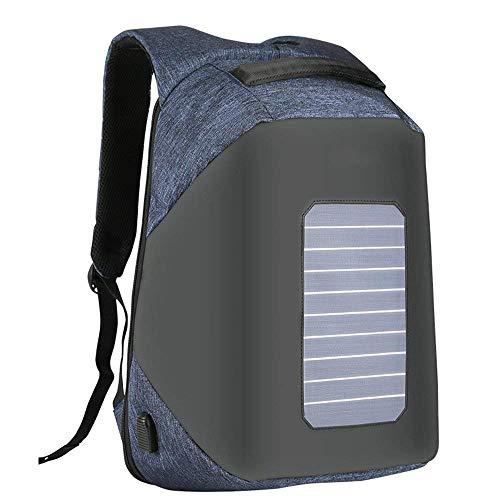 YANGYUAN Mochila Puerto de Carga USB Impermeable Viaje al Aire Libre Camping Mochila antirrobo Oficina o Escuela (Color : Blue)