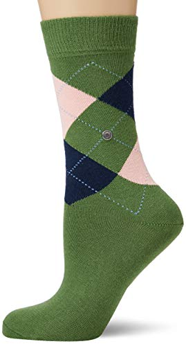 Burlington Damen Queen Socken, grün (pesto 7165), 36-41