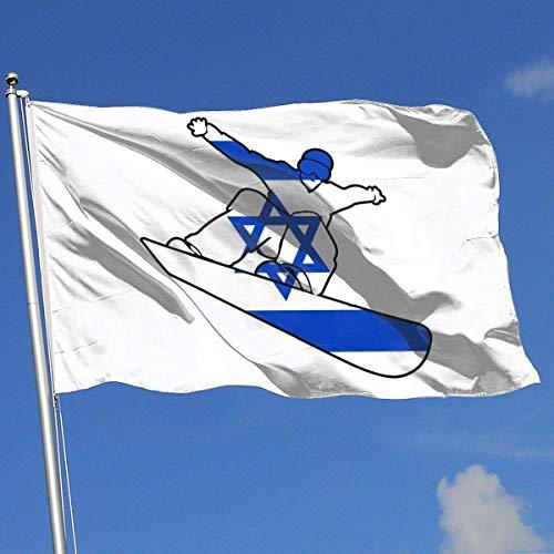 Squirm Factory Außen- / Innendemonstrations-Flagge Israel-Flaggen-Snowboard 100% Polyester-einschichtige lichtdurchlässige Flag