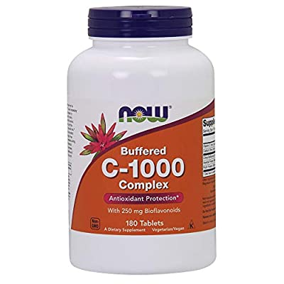 NOW Supplements, Vitamin C-1000 Complex, 180 Buffered Tablets