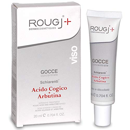 Rougj - Siero Viso Schiarente in Gocce a Base di Acido Cogico e Arbutina - 20 ml