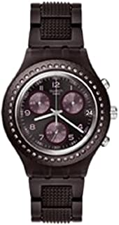 Swatch Irony Women's Purple Dial Stainless Steel Band Watch - Svcv4000Ag, Analog Display