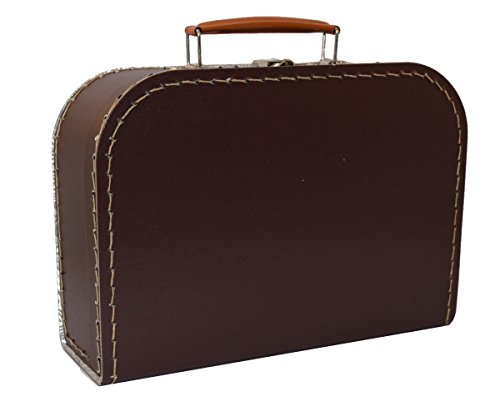 Suitcase, board,brown, 25 cm