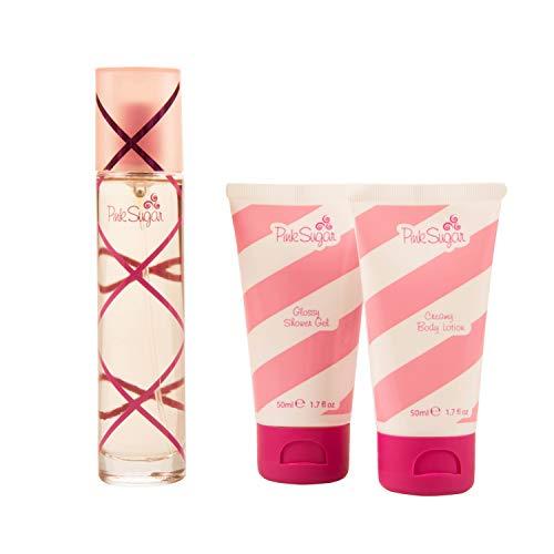 Aquolina Pink Love Box by Aquolina: Pink Sugar Eau de Toilette (50 ml), Pink Sugar Glossy Shower Gel (50 ml) & Pink Sugar Cream Body Lotion (50 ml)