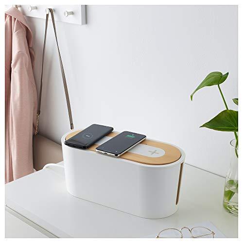 IKEAROMMAケーブルマネジメントボックスふた付きホワイト10289835