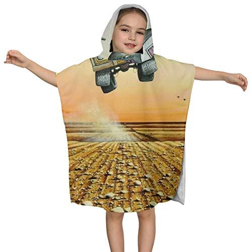 Kinderbadhanddoek met capuchon zijn we er nog Caravan Hoge Kwaliteit Zwemmen Multifunctionele Mantel Ontwerp Super Zacht en Super Grote Ultrafijne Polyester Fiber voor Meisjes en Jongens