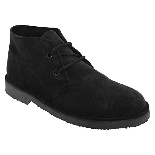 Roamers Damen Desert-Boots/Schnürschuhe/Halbschuhe, Wildleder (38 EU) (Schwarz)