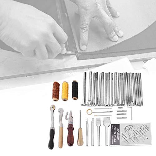 Kit de herramientas para repujado de piel, 48 piezas, para manualidades de cuero