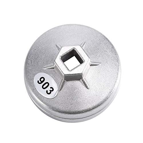 EVGATSAUTO 【𝐎𝐬𝐭𝐞𝐫𝐟ö𝐫𝐝𝐞𝐫𝐮𝐧𝐠𝐬𝐦𝐨𝐧𝐚𝐭】 Silber Ölfilterschlüssel Steckdose 74mm Aluminium Ölfilterschlüssel