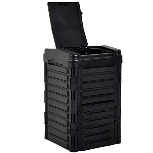 Fantastic Prices! FMXYMC Garden Compost Bins, Large Yard Waste Composter, 330L Outdoor Compost Tumbl...
