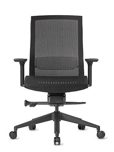 AMQ ZILO Ergonomic Office Chair, Black/Mesh Seat