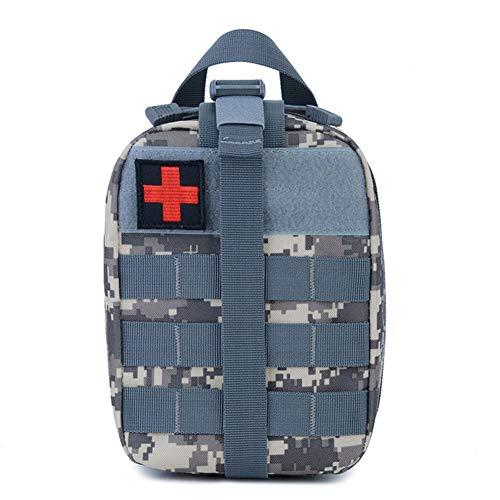 Backpack Kit médico táctico al Aire Libre Botiquín de Primeros Auxilios para Viajes al Aire Libre Escalada Escalada Bolsa de Salvamento,Blue