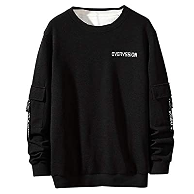 ?HebeTop? Men Hooded, Winter Autumn Contrast T-Shirt Color O-Neck Long Sleeve Button Casual Slim Tunic Tops