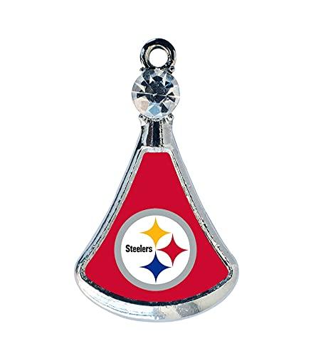 Kkoqmw El Colgante de Cristal Steelers DIY Charm es Adecuado para Jugadores de fútbol Charm Pittsburgh Pulsera Collar Pendiente Joyas