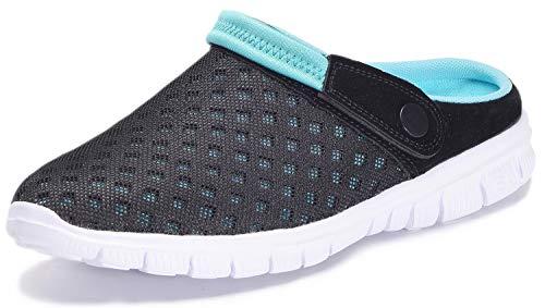 Unisex Clogs Hausschuhe Muffin Unten Alltägliche Drag Pantolette Sommer Beach Schuhe Sandalen für Damen Herren, Blau, 48 EU