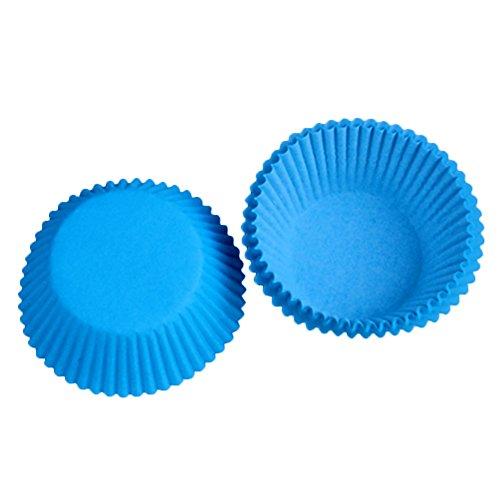 Beiersi Caissettes Cupcake Muffins Moule Pâtisserie Décor Lot de 100 (Bleu)